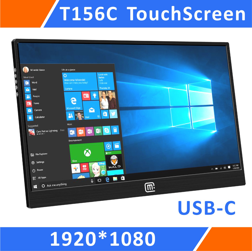 15.6 Inch Super Slim Multi Touch USB Portable Monitor For PS3 PS4 PRO Xbox360 With Vesa Mount Resreved For PC Laptop(T156C)