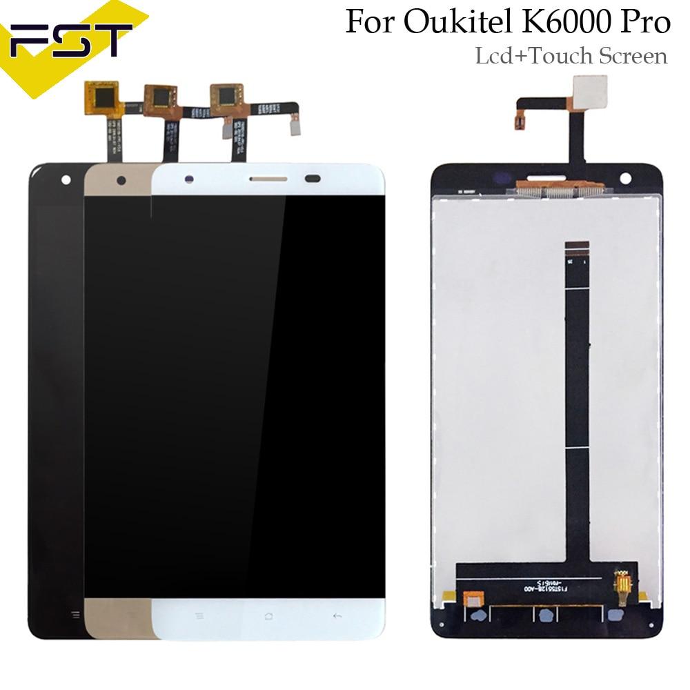 Schwarz/Weiß/Gold 100% Test 1 stücke Für Oukitel K6000 Pro LCD Display und Touch Screen Digitizer Montage kostenloser Versand + Werkzeuge
