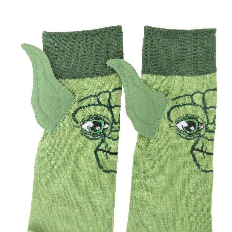 Action Toy Figures Star Wars Last Jedi Master Yoda Socks Street Cosplay Plush Comics Women Men The Force Awakens Socks