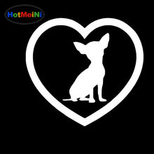 HotMeiNi Cute Family Pet Animal Cat Dog Heart-shaped Art Car Stickers for SUV Laptop Car Decor Waterproof Vinyl Decal 10 Colors(China)