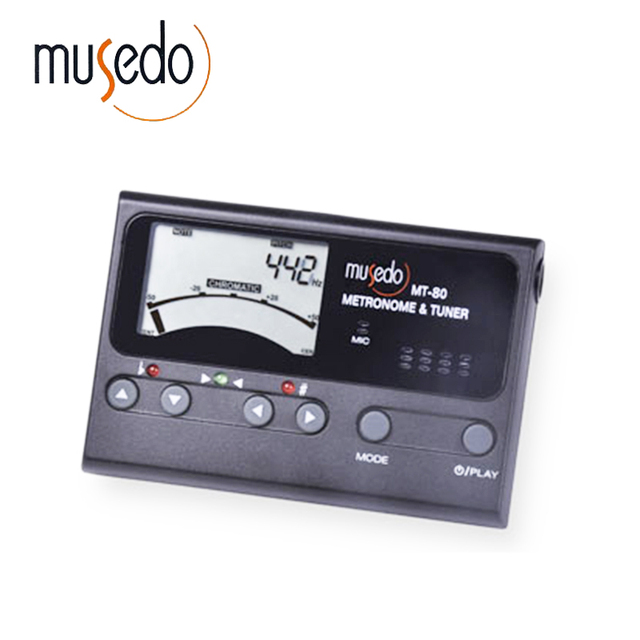 US $13 55  Musedo MT 80 Professional Precision LCD Guitar Metronome Tone  Generator Guitar Tuner-in Guitar Parts & Accessories from Sports &