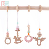Bite Bites Baby Rattle Wooden Baby Toy Mobile For Baby Cot Hanging Toys Newborn Children's Educational Toys Crib Rattle