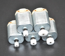 Free shipping  5PCS/ 130 Small DC motor 3 to 5V Miniature four-wheel small 17000-18000 RPM+(Gear package 5pcs)