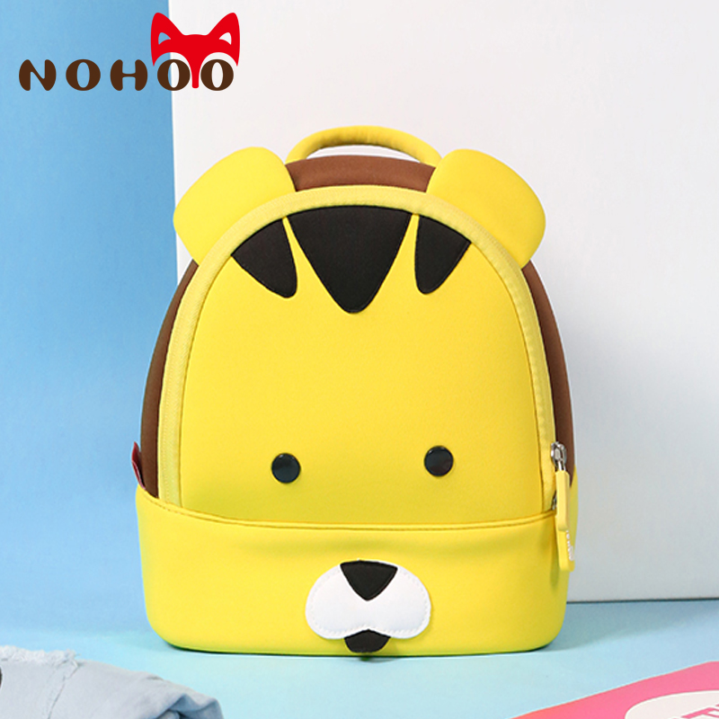 NOHOO Kid Toddler School Bags Backpack Kindergarten Children Girls Boys Schoolbag 3D Cartoon Animal Bag 2-5 Years Old