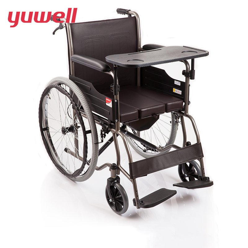 yuwell High Quality Portable Folding Back Wheelchair Health Care Disabled People Manual Wheelchair Home Medical Equipment H058B health equipment laser hemodynamic metabolic home health care equipment