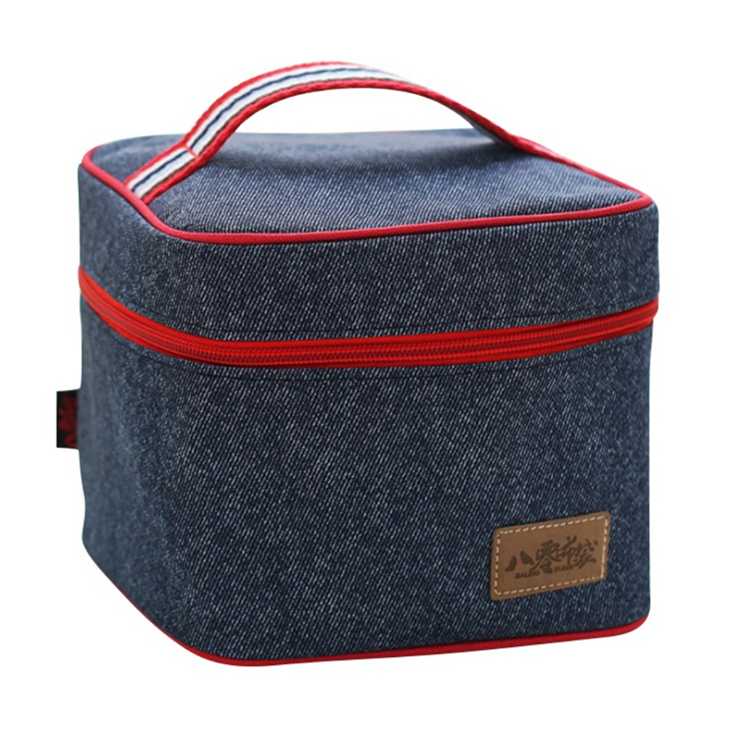 Home Picnic Ice Bag Denim Insulation Bag Lunch Package Convenient And Practical Picnic B ...