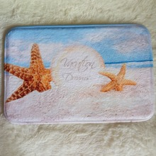 Unique and Generic Star fish sea shell beach bath mats soft floor mat carpets living room