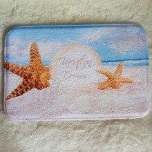 Уникальный и Универсальный Star fish sea shell beach ванна коврики мягкий коврик ковры гостиной мат