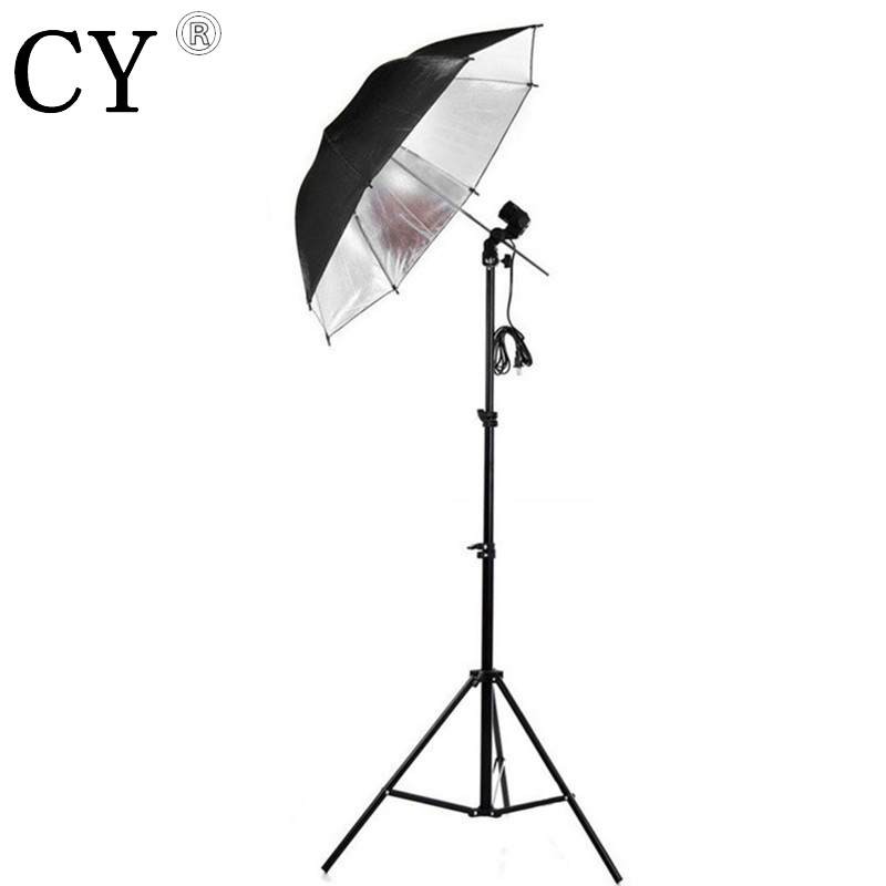 Lightupfoto 110v Photo Studio Lighting Kit Light Stand Umbrella Bulb Socket studio continuous lighting kits hot sales PSK1A-US