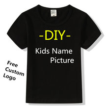 Factory Price! 1PCS Free Custom LOGO Design T Shirt for Men Women Kids Print picture name T-shirt tops clothes Tee