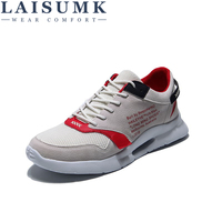 LAISUMK Men Shoes Summer Weave Uppers Style Breathable Lightweight Men Sneakers Walking Shoes Male Fashion Shoes