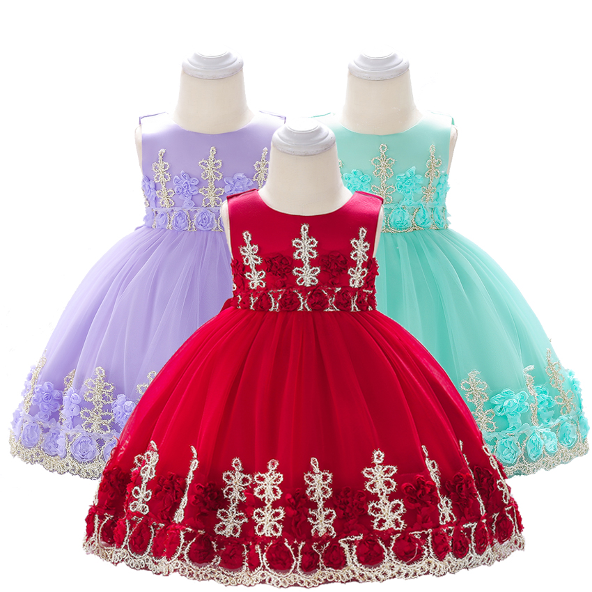 Us 1409 15 Offnewborn Baby Girl Dress Birthday Decorations 1st 2nd Party Outfit Children Infant Christening Gown Baptism Gift Princess Costume In
