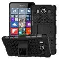 Silício duro pc híbrido resistente armadura dupla caso para microsoft nokia Lumia 950 N950 950 XL 950XL Dual SIM Stand Pneus Dever cobrir