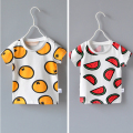 ZT  Hu sunshine wholesale new 2016 Girls watermelon oranges print T-shirt