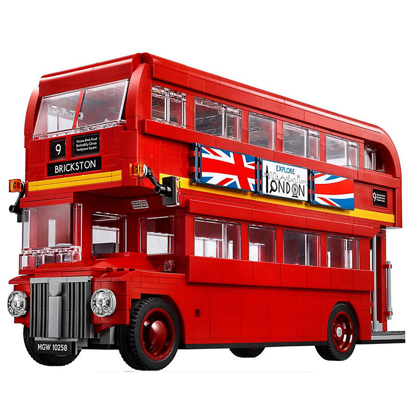 Bela 10775 Create Series London Bus Double-decker Bus Building Blocks 1711pcs Bricks Toys Compatible With Legoings Creator 10258 lepin 21045 united kingdom britain london double decker bus building kit blocks bricks toy for gift 10258