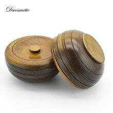 Tazón de afeitar de madera para hombre, taza de jabón para afeitar de madera