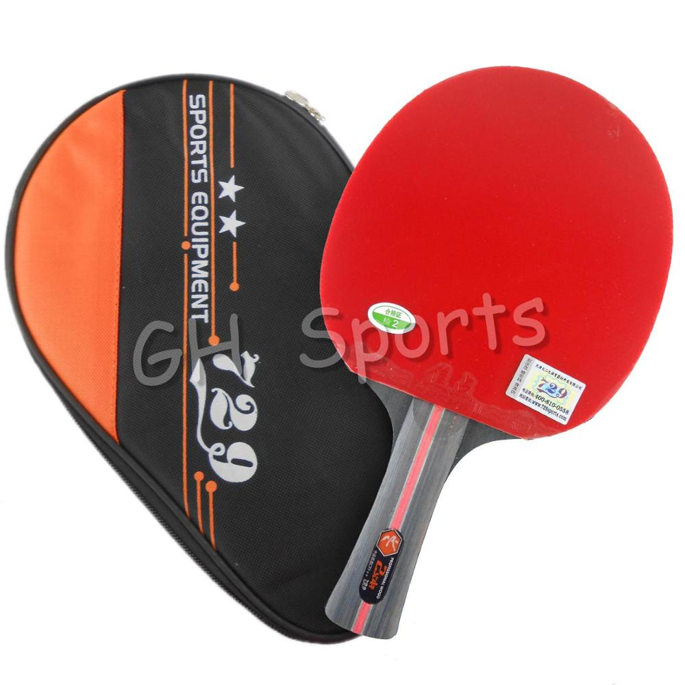 где купить RITC 729 Friendship 2-STAR 2STAR 2 STAR Pips-In Table Tennis Racket with Case for PingPong Shakehand long handle FL по лучшей цене