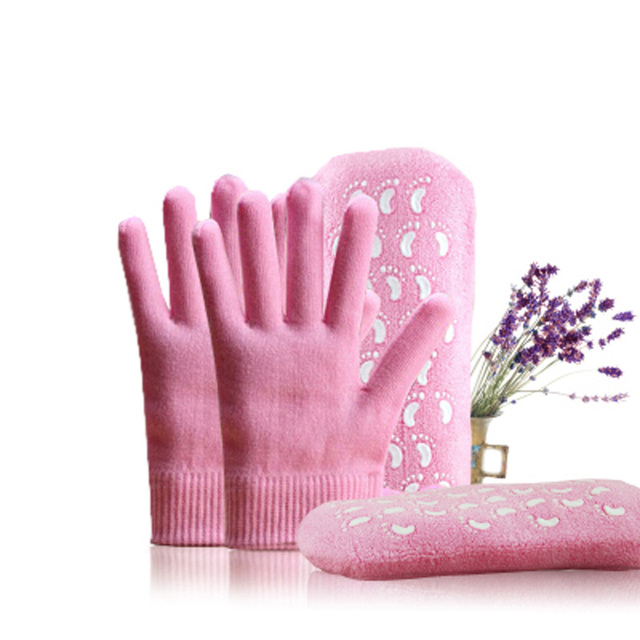 Pink Gloves and Socks Set for Hands and Feet Treatment