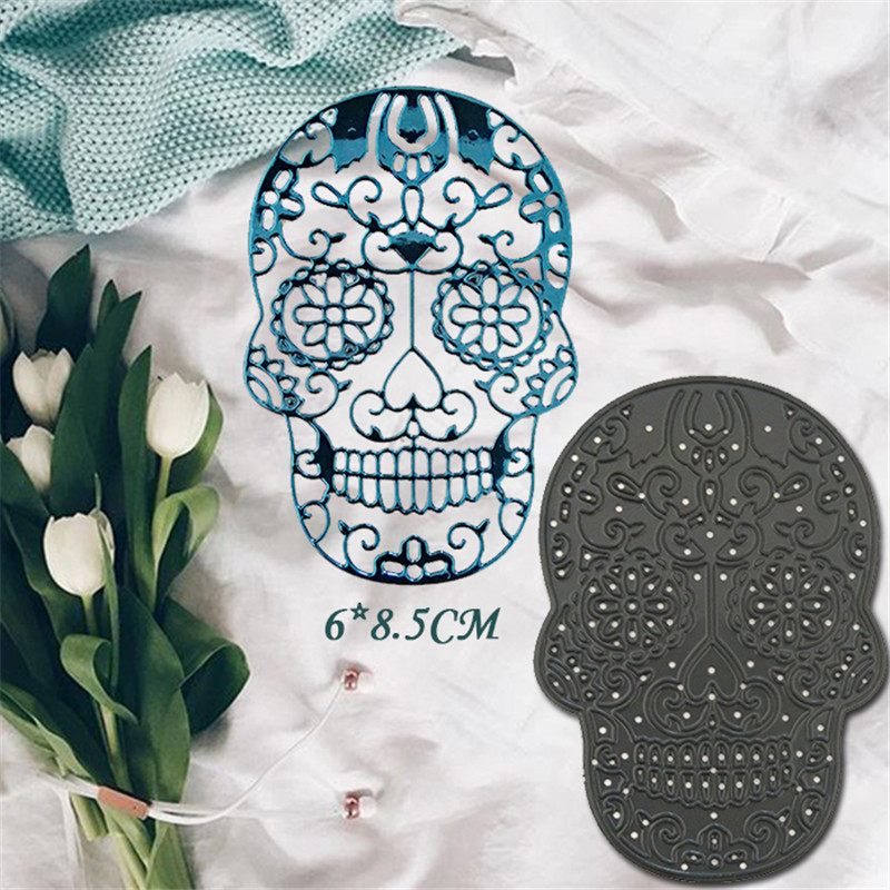 Skull Metal Die Cutting Scrapbooking Embossing Dies Cut Stencils Decorative Cards DIY album Card Paper Card Maker polygon hollow box metal die cutting scrapbooking embossing dies cut stencils decorative cards diy album card paper card maker