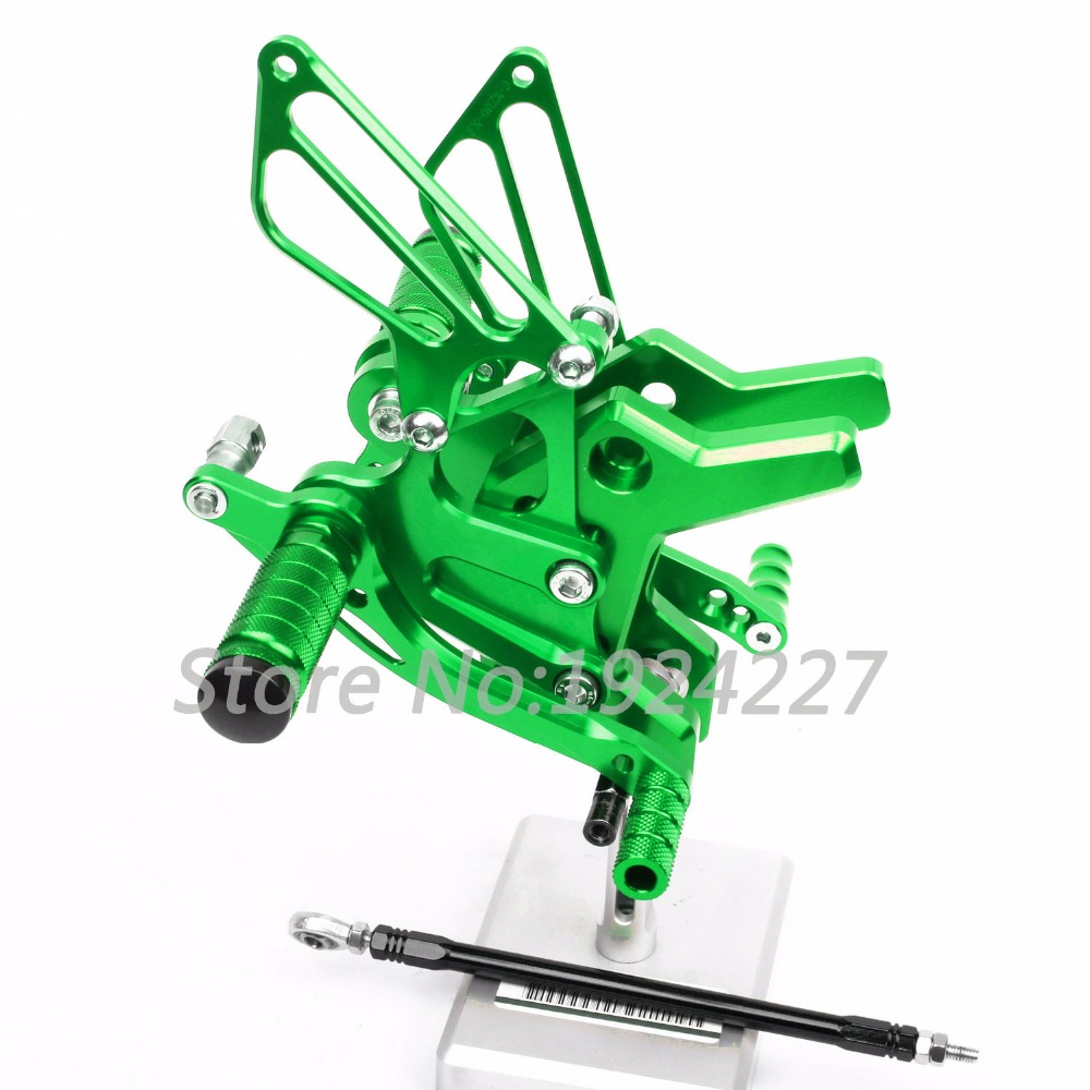 8 Colors For Kawasaki Z750 2004-2006 CNC Rearsets Rear Set Adjustable Foot Pegs Motorcycle Footrest Hot Sale Motorbike Foot Pegs