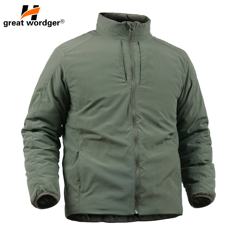 Outdoor Sport Tactical Military Lightweight Coat Mens Jackets Parkas Camping Hiking Thick Cotton Snow Outwear Men Windbreakers
