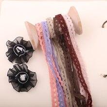 1 ярд, 1 см, разноцветные хлопковые кружевные отделки, детская одежда, домашнее Свадебное Ремесло, искусственный материал, «сделай сам», пэчв...