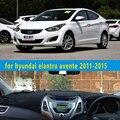 Dashmats car-styling accesorios tablero de instrumentos cubierta para hyundai avante elantra i35 fludic neo 2011 2012 2013 2014 2015 rhd