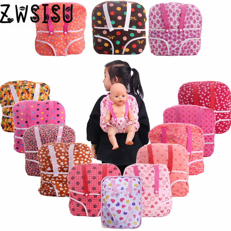15 Styles Doll Travel Sports Backpacks For 18 Inch American Doll & 43 Cm Born Doll For Generation Girl`s Toy Doll Accessories