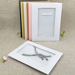 Image 5 - New Hot Sale Free SHipping HighQuality Necklace Card Earring Card &Invitation Bag 14x10.5cm 1lot=20inner card +20 out bags