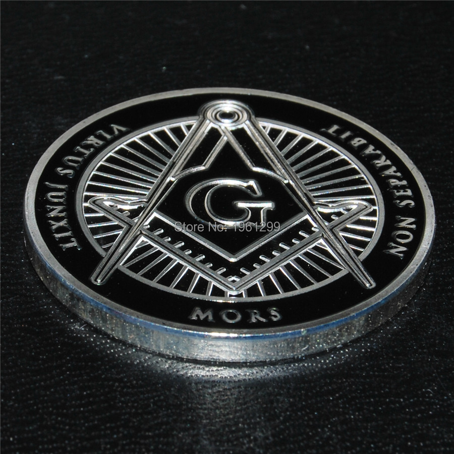 Free Shipping,2pcs/lot,Masonic Challenge Coin Square Compass Freemason Eye  Case Fraternity NEW!