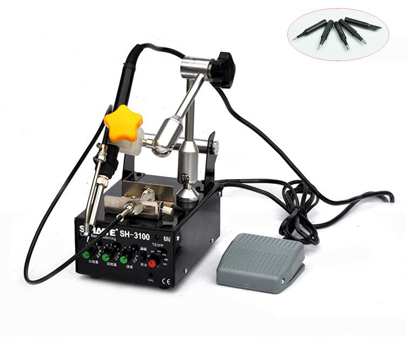 Foot switch Automatic soldering machine Constant temperature solder tool 220V automatic tin feeding machine constant temperature soldering iron teclast multi function foot soldering machine f3100a