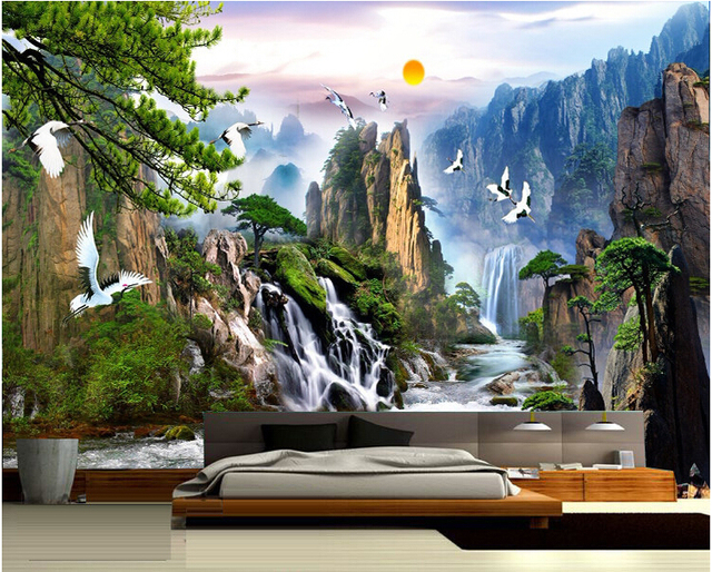 China Landscape Photo Wallpaper Natural Scenery Mural Home Decor Wall