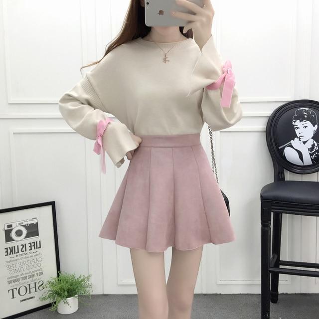 new winter skirt korean fashion suits skirt skirts bowknot. Black Bedroom Furniture Sets. Home Design Ideas