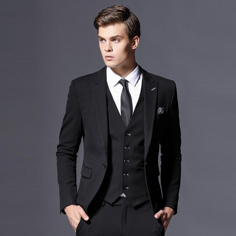 Venta de chaqueta de marca para hombre, chaqueta Formal de negocios, chaqueta de novio de tres piezas, ropa de fiesta ajustada, vestido de boda de un solo botón - 3