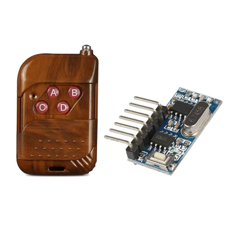 433 MHz RF 4 Channel Remote Control Learning Code 1527 Transmitter And DC 12V Relay Receiver Module Remote Control Light Switch wireless rf 4 channel remote control learning code 1527 transmitter and 433 mhz 1ch relay receiver module diy garage gate switch
