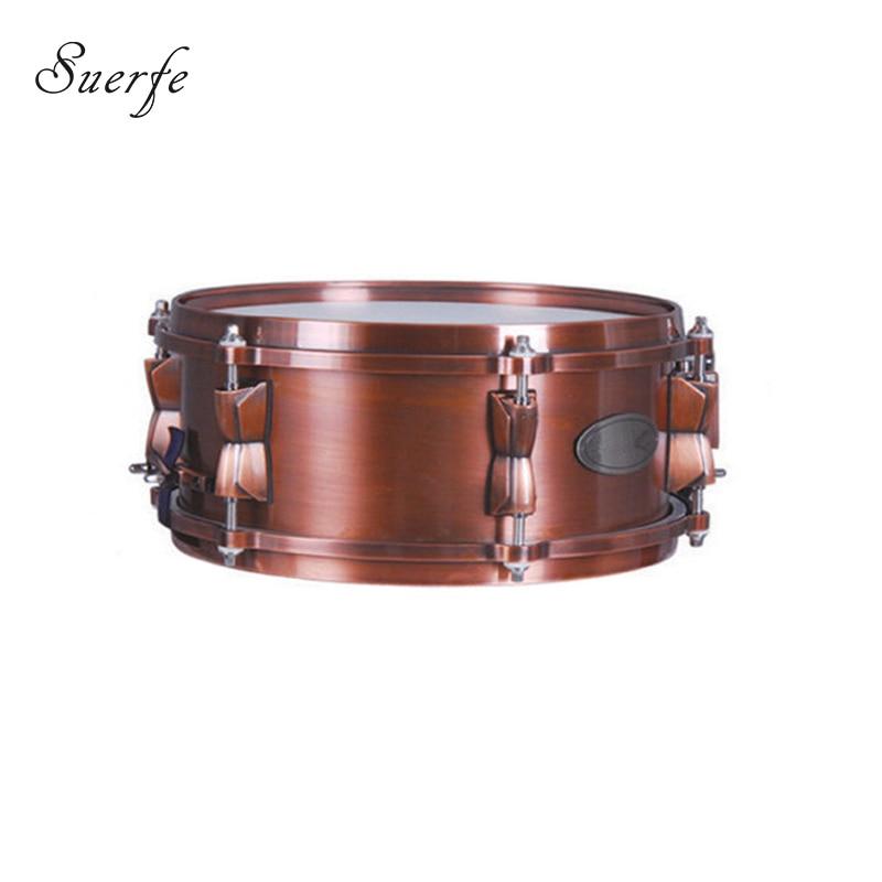 suerte new 14 5 size copper snare drum polyester drumhead die cast hoop bronze finished. Black Bedroom Furniture Sets. Home Design Ideas