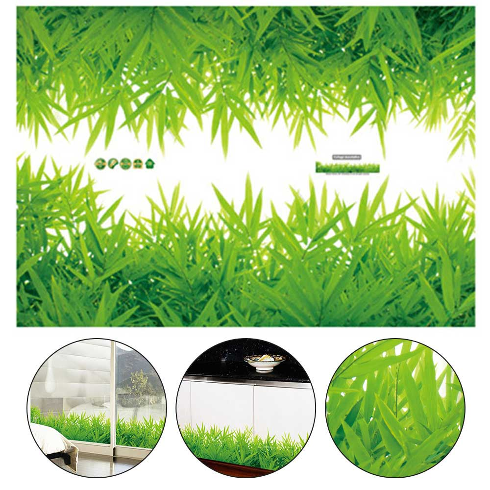3D Fresh green grass PVC Wall Stickers Baseboard Waterproof DIY Removable Decals Stickers Living room Bedroom Mural home decor