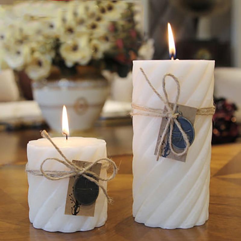 wedding decoration white candle essential oil candela et chandelles wax scented decorative candles making kerzenleuchter ddz156 - Decorative Candles