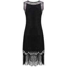 Little Black Vintage Sequin Tassel Dress