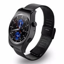 Neue X10 Satt Abgerundete Smart Uhr Suppors Pulsmesser Bluetooth 4,0 Echt Leder Smartwatch