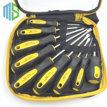 9 in1 Phillips+Slotted Screwdriver Steel Wire Pliers Cutter Knief Tape Set Multi-Bit Tools Repair Home Garden DIY