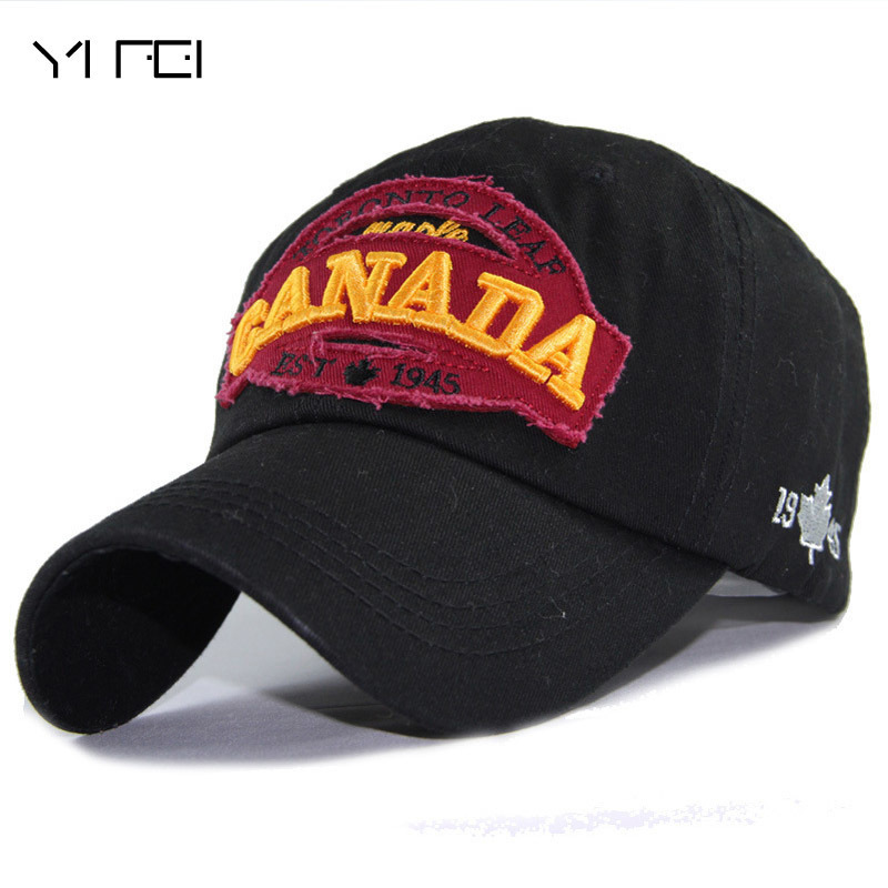 Men Snapback Canada-Letters Caps Baseball-Cap Patch-Dad-Hat Women Cotton for Hip-Hop