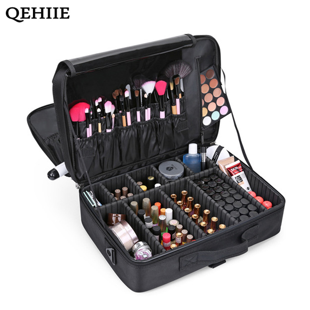 Brand Female High Quality Professional Makeup Organizer Bolso Mujer Cosmetic Bag Large Capacity Storage case Multilayer  sc 1 st  AliExpress.com & Brand Female High Quality Professional Makeup Organizer Bolso Mujer ...