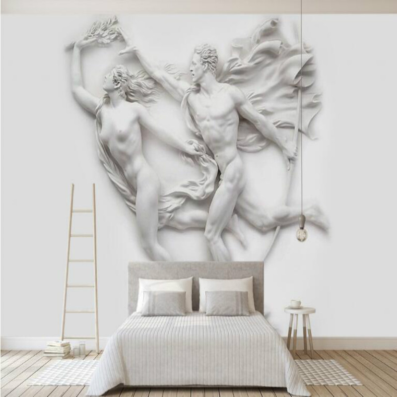 3D embossed European mythological figures Mural Wallpaper for TV Backdrop Painting Living Room Bedroom Wallpapers 3D art abstract pattern color carving large mural 3d wallpaper 3d wallpaper bedroom living room tv backdrop painting 3d wallpaper