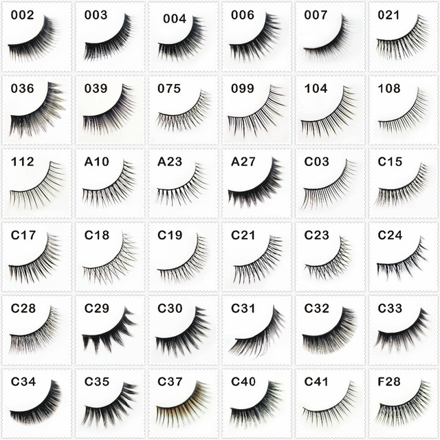 false eyelashes fake eyelash fashion eyelashes extensions 36 styles mix styles acceptable Wholesales(100pair/lot) Free shipping