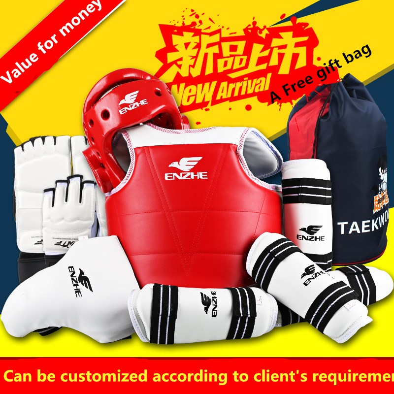 8 pieces taekwondo protectors full set of child adult Helmet Chest head protector Armguards Shank protector Crotch free shipping hot heat resistant braided lace front wigs box synthetic wigs black color thick full hand twist synthetic hair micro twist wigs