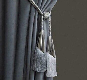 2 unids/par cepillo de cortina Tiebacks borla franja colgante cinturón bolas accesorios de cortina Holderback Tie Backs lazo
