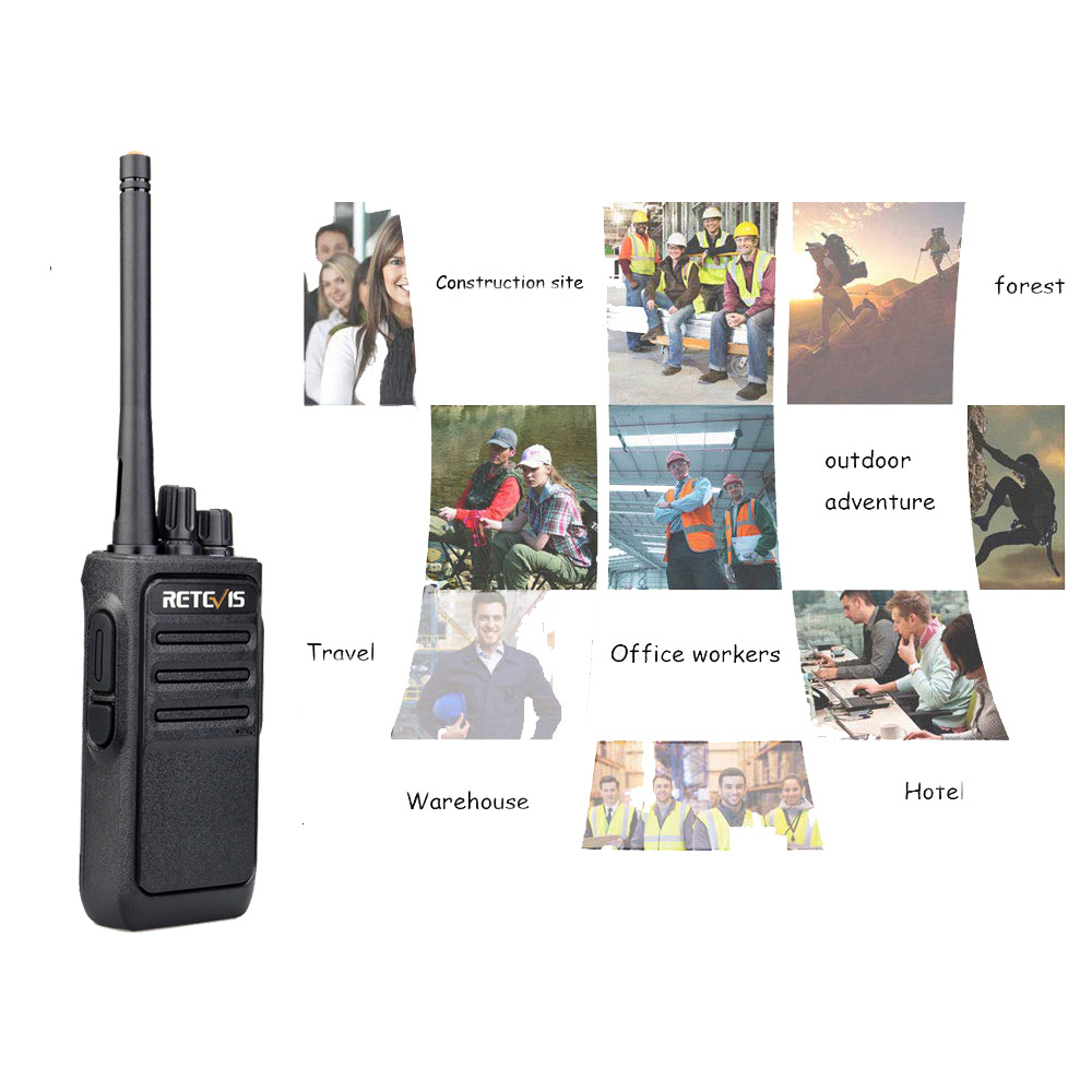Image 5 - Un par Retevis RT617/RT17 Walkie Talkies PMR Radio PMR446/FRS VOX USB carga práctica 2 vías Radio estación Comunicador transceptorTransceptor   -