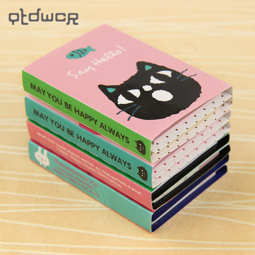 1PC Creative 180 Pages Sticker Mini Animal Sticky Notes 4 Folding Memo Pad Gifts School Stationery Supplies girls gifts cute 160 pages sticker school supplies memo flags mini sticky notes pad