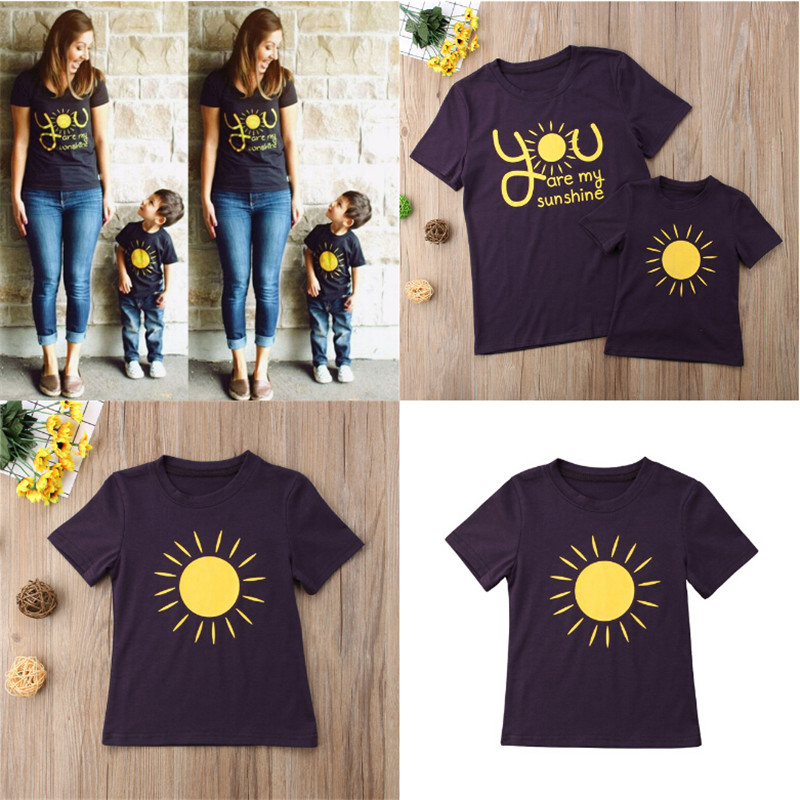 Mother And Me Matching Outfits Mom Kid Baby Sunshine Matching Shirts TShirt Blouse Tops Family Outfits Clothes